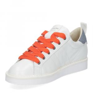 Panchic P01W leather white denim orange-4