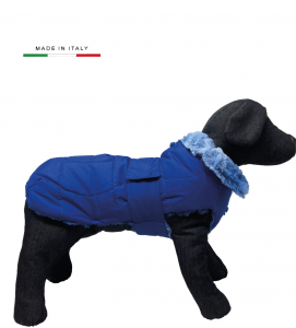 Fashion Dog - Cappotto Impermeabile con Pelliccia