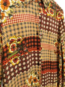 Camicia donna |fantasia texana |sui toni del beige |in cotone e viscosa | made in Italy