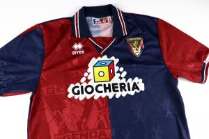 1995-96 Genoa Maglia Match Worn #5 Galante Home L