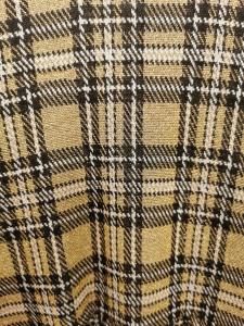 Abito donna   in maglina lurex scozzese  manica lunga   tagliato in vita  Made in italy