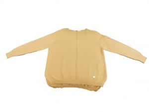 Maglia donna |in lana e viscosa | color cammello | scollo a barca | Made in italy