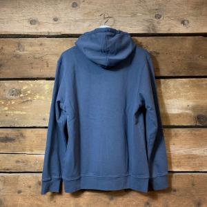 Felpa Colorful Standard con Cappuccio 100% Cotone Organico Blu Petrolio