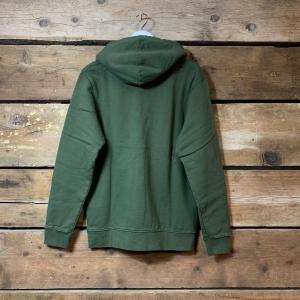 Felpa Colorful Standard con Cappuccio 100% Cotone Organico Verde Militare