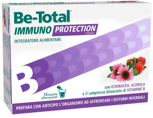 BE-TOTAL IMMUNO PROTECTION - INTEGRATORE DIFESE IMMUNITARIE  14 BUSTINE
