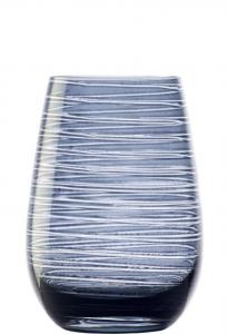 Set 6 bicchieri acqua Tumbler blu grigio Twister ml 465