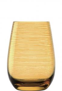Set 6 bicchieri acqua Tumbler colore Ambra Twister ml 465