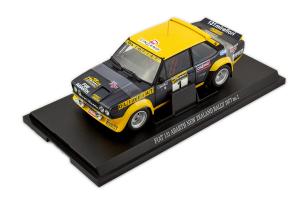 Fiat 131 Abarth New Zeland 1977 #1 Black Yellow 1/18 Kyosho