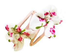 Fiorellini rosa - Set di mollette rosa