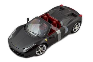 Ferrari F458 Spider Matt Black 1/18 Hot Wheels