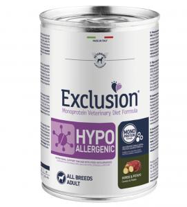 Exclusion - Veterinary Diet Canine - Hypoallergenic - Cavallo e Patate - 400g x 24 lattine