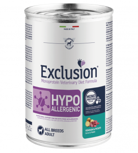 Exclusion - Veterinary Diet Canine - Hypoallergenic - 400g x 12 lattine