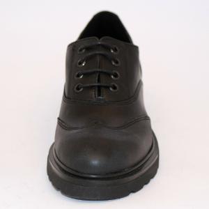 Scarpa bassa inglesina lacci pelle gomma donna nero IAL24888PE