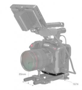 Piastra Inferiore per Canon C70 in Alluminio 3189