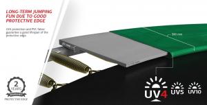 Tappeto Elastico BERG Favorit + Safetynet Comfort - Grigio