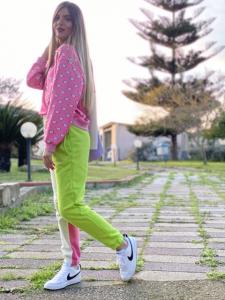 Pantaloni in Felpa Multicolor Lumina