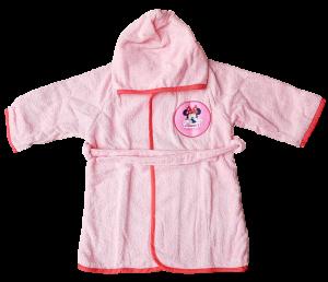 Accappatoio Baby Bambina bimba 100% Spugna di cotone DISNEY MINNIE MOUSE Bagno