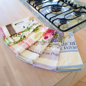 Canovacci cucina spugna Bouquet rosa
