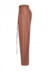 Pantalone Rapito effetto pelle marrone Pinko
