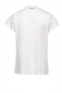 T-shirt Estroverso give me 5 con perle Pinko