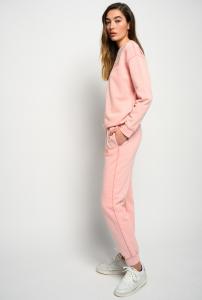 Joggers Carico in cotone organico rosa Pinko