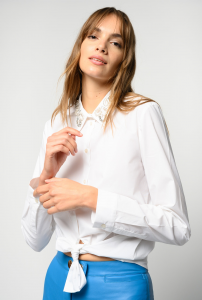 Camicia Dolce con colletto gioiello Pinko