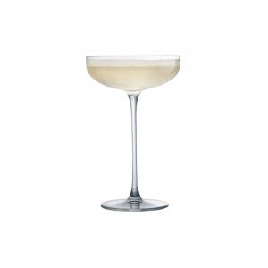 Set 6 pezzi coppe champagne in vetro cristallino Savage CL 22 cm.17,4h diam.11