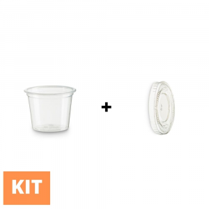 Kit salsiere in PLA da 30ml + coperchio