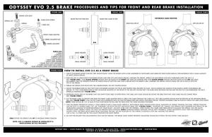 Odyssey Evo 2.5 Brake Kit   Colore Purple Rain