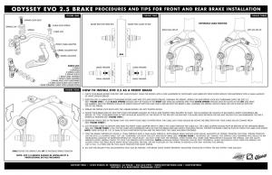 Odyssey Evo 2.5 Brake Kit | Colore Lavander