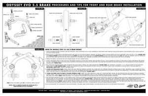 Odyssey Evo 2.5 Brake Kit | Colore Anodized Blue
