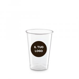 Bicchieri biodegradabili trasparenti personalizzati 200ml