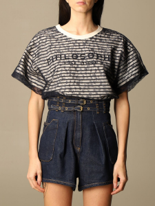 T-shirt in cotone e tulle philosophy di lorenzo serafini