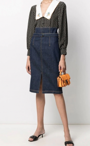 Gonna midi in denim philosophy di lorenzo serafini