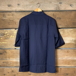 Camicia Scotch & Soda con Manica a 3/4 in Viscosa Blu Navy