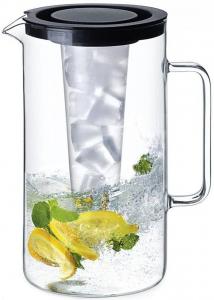 Brocca in vetro borosilicato con scomparto per il ghiaccio LT 2,5