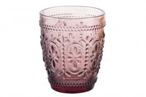 Set 6 bicchieri acqua in vetro viola Barocco cl 29 cm.10h diam.8