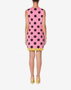 Abito in maglia polka dots