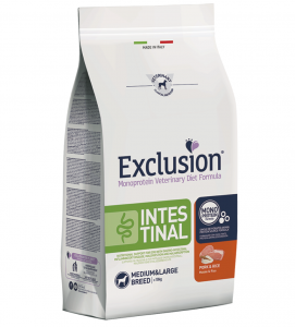 Exclusion - Veterinary Diet Canine - Intestinal - Medium/Large - 12Kg