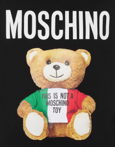 Felpa lunga teddy bear moschino couture