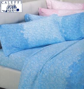CALEFFI, FLORES. Completo letto, Lenzuola in Calda Flanella. Singolo, 1 piazza.