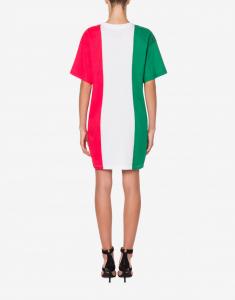 Abito in jersey italian slogan moschino couture