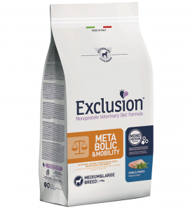 Exclusion - Veterinary Diet Canine - Metabolic-Mobility - Medium/large - 12kg x 2 sacchi
