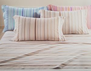 Completo letto, lenzuola in Caldo Cotone. CALEFFI - RIVA. Matrimoniale, 2 piazze