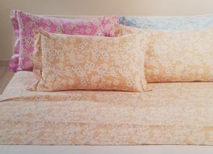 Completo letto, lenzuola in Caldo Cotone. CALEFFI - EMY. Matrimoniale, 2 piazze.