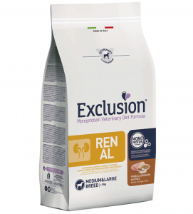 Exclusion - Veterinary Diet Canine - Renal - Medium/Large - 12kg x 2 sacchi