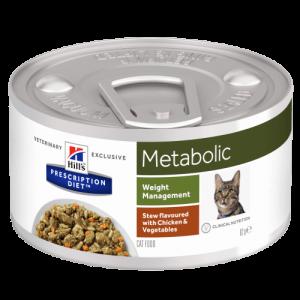 Hill's - Prescription Diet Feline - Metabolic Stew - 82g x 6 lattine