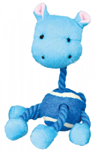 Trixie - Animale con palla da tennis e corda - 16 cm