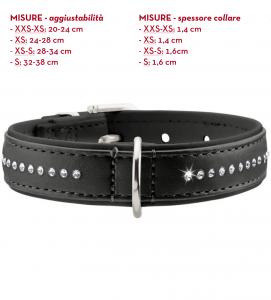 Hunter - Collare Pelle Artificiale - Modern Art Luxus - XS/S