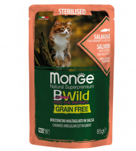 Monge Cat - Bwild Grain Free - Adult - Sterilised - 85g x 7 buste